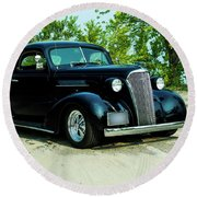 Custom 1937 Chevrolet Coupe Round Beach Towel