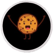 Cute Cookie For Cooke Lovers Men Women And Kids Round Beach Towel