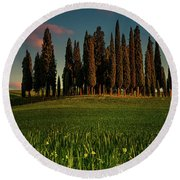Cypress Circle Round Beach Towel by Chris Lord