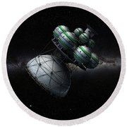Daedalus Interstellar Round Beach Towel