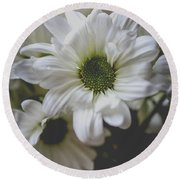 Daisey Flowers 0981 Round Beach Towel