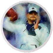 Dallas Cowboys.dak Prescott. Round Beach Towel