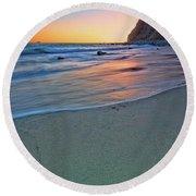 Dana Point Sunset Round Beach Towel
