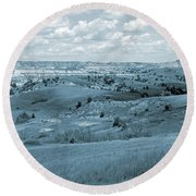 Dance Of The Clouds And Sun Round Beach Towel