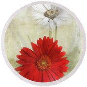Dancing In The Moonlight Round Beach Towel by Judy Hall-Folde