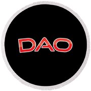 Dao Round Beach Towel