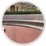 dare to do our duty - Madison -Wisconsin Round Beach Towel