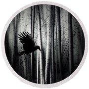 Darker - Raven Round Beach Towel