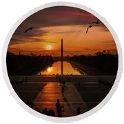 Dc Sunrise Round Beach Towel