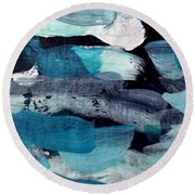 Deep Blue #1 Round Beach Towel