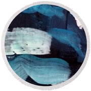 Deep Blue #3 Round Beach Towel by Maria Langgle