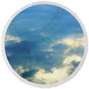 Deep Blue Sky Round Beach Towel