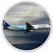 Delta Air Lines Boeing 767-332 Round Beach Towel