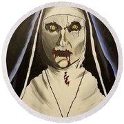 Demon Nun Round Beach Towel