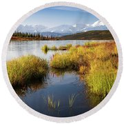 Denali Wonder Round Beach Towel by Tim Newton