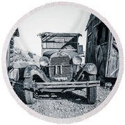 Depression Era Dust Bowl Car Round Beach Towel