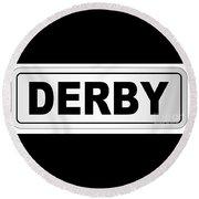 Derby City Nameplate Round Beach Towel