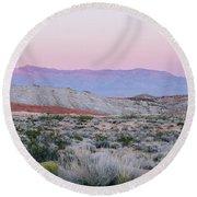Desert On Fire No.1 Round Beach Towel