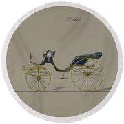Design For Cabriolet Or Victoria, No. 3696 Round Beach Towel