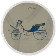Design For Cabriolet Or Victoria, No. 3719 Brewster And Co. American, New York Round Beach Towel