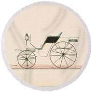 Design For Driving Or Road Phaeton Unnumbered Brewster And Co. American, New York Round Beach Towel