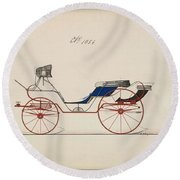 Design For Eight Spring Victoria, No. 1056   B. Wegers American, Active 1850-75 Round Beach Towel