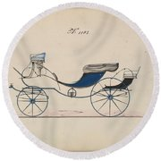 Design For Eight Spring Victoria, No. 1103 Brewster And Co. American, New York Round Beach Towel
