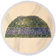 Design For Floral Lamp  Louis Comfort Tiffany American, New York 1848-1933 New York Round Beach Towel