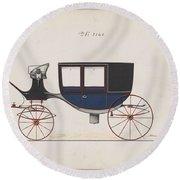 Design For Glass Panel Coach, No. 3133  1875 Round Beach Towel