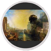 Dido Who Builds Carthage - Digital Remastered Edition Round Beach Towel