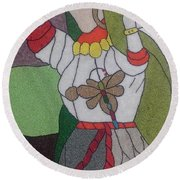 Different Woman Round Beach Towel