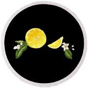 Digital Citrus Round Beach Towel