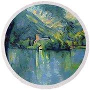 Lake Annecy - Digital Remastered Edition Round Beach Towel