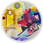 Digital Remastered Edition - Yellow, Red, Blue Round Beach Towel
