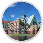Disney Dolphin Hotel Round Beach Towel