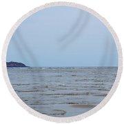 Distant Seguin Island Round Beach Towel
