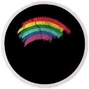 Distressed Rainbow Lgbt Men Women World Peace Equality Round Beach Towel
