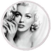 Diva Mm Bw Round Beach Towel