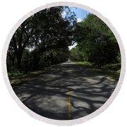 Dixie Highway In Micanopy Florida Round Beach Towel