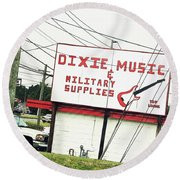 Dixie Music Round Beach Towel