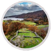 Dolbadarn Castle View Round Beach Towel