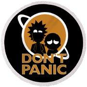 Don't Panic Round Beach Towel
