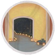 Doorway To The Festival Of Lights Round Beach Towel