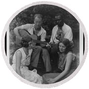 Doris Ulmann   1882-1934  Four Musicians Including A Man Playing A Guitar, A Man Playing A Violin Round Beach Towel