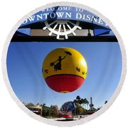Downtown Disney Tribute Poster 2 Round Beach Towel