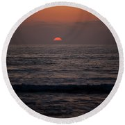 Dreamcicle Sunset Round Beach Towel