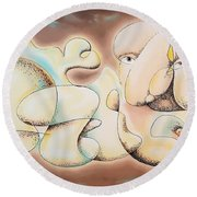 Dreams Of Gold Round Beach Towel