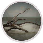 Drifting Along With The Tide Round Beach Towel