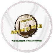 Drum Circle Logo Round Beach Towel