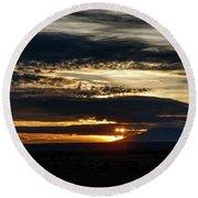 Dual Sunstars At Nipple Bench Sunrise Round Beach Towel